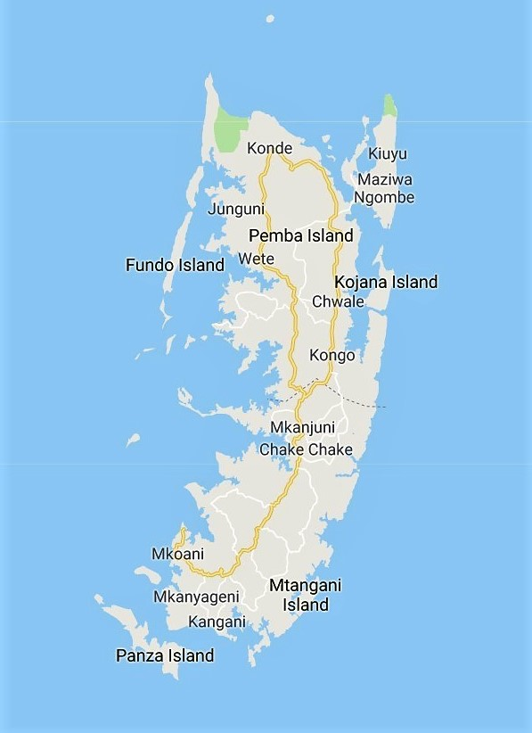 Pemba Map