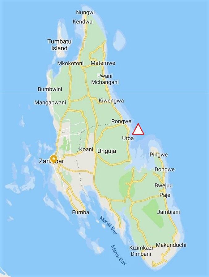 Zanzibar Map East - ZanTours on
