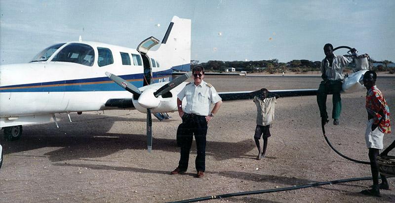 ZanTours - History, Carl with Plane