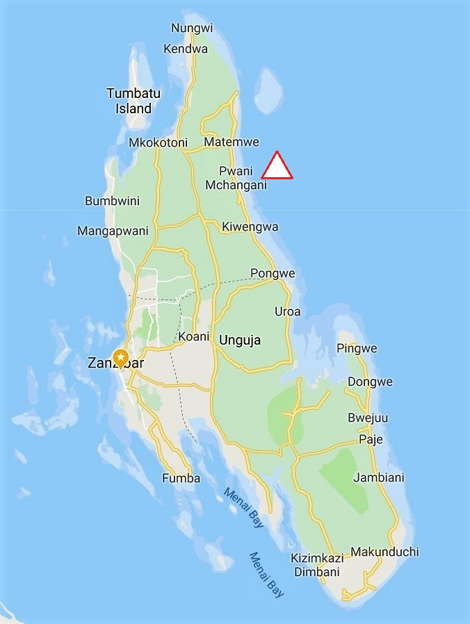 Zanzibar Map North East