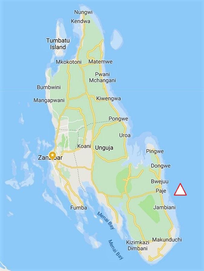 Zanzibar Map South East